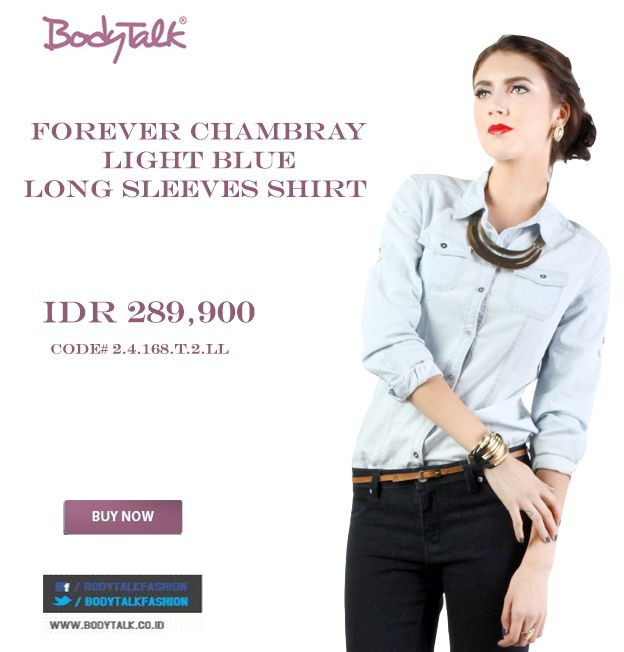 this Chambray will match your day Ladies IDR 289,900 >> http://ow.ly/vCUXt