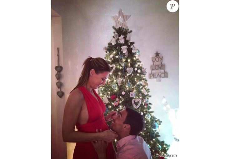 Flavia Pennetta, qui affichent déjà de jolies rondeurs, et Fabio Fognini se préparent à accueillir en 2017 leur premier enfant, dont ils ont annoncé l'arrivée prochaine peu avant Noël. Photo Instagram.