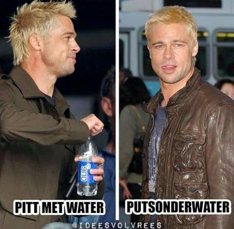 Pitt sonder water....