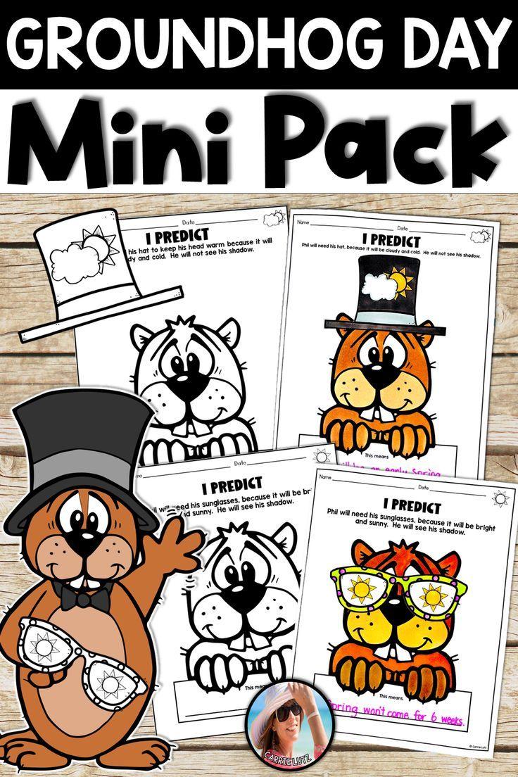 Groundhog Day Activities Mini Pack Groundhog Day Activities Groundhog Day Fun Worksheets [ 1104 x 736 Pixel ]