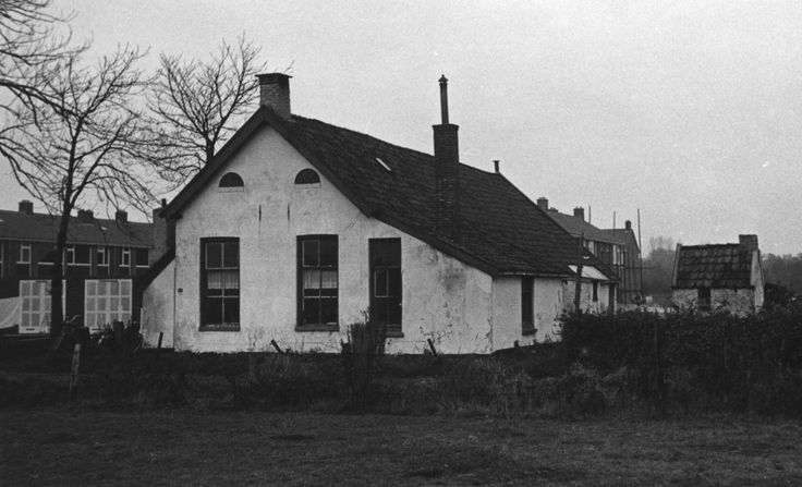 Tuinstraat (Hier de tekst zoals die op het Drents Archief staat: Boerderij met stookhok (rechts) aan de Tuinstraat 25 (zandweg) te Assen-Oost (laatste bewoner G. Bos), afgebroken in november 1964. Op de achtergrond nieuwe woningen in de (nieuwe) wijk Vredeveld. Links de achterzijde van woningen aan vermoedelijk de Brunelstraat. Links van het stookhok een hoekwoning aan de Dotterbloemstraat en links ervan (met de twee schoorstenen) het begin van een rij woningen aan de Pinksterbloemstraat.