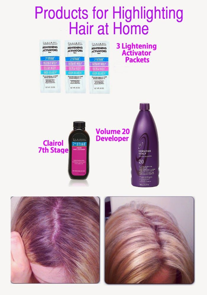 How to highlight your hair at home. Includes a list of products for highlighting and toning.