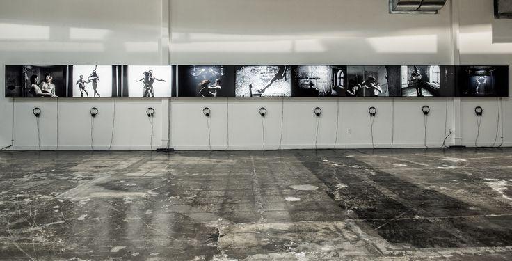 ©dominique t skoltz  y2o, 2013.  Installation vidéo en neuf mouvements.    x > Vanessa Pilon y > Jacques Poulin-Denis