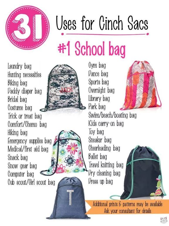31 Uses for Thirty-One Cinch Sac. #Carrie31Bags