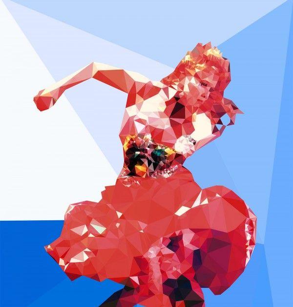 #Lauper! 'Full-on Boppin'' Fine #Art Print http://wearehalfhill.com/store/polygraphy/full-on-boppin/?utm_content=buffer0ff1c&utm_medium=social&utm_source=pinterest.com&utm_campaign=buffer #80s #music