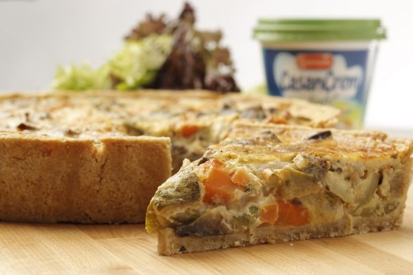 Tarta integral de verduras - Vegetables Quische