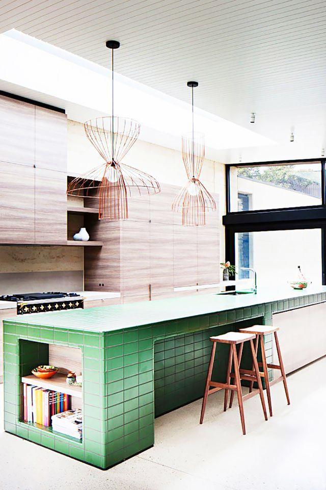 Tiled Kitchen Islands