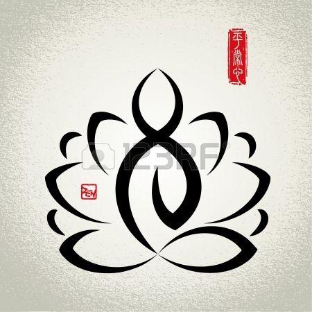 Lotus en Zen meditatie Stockfoto