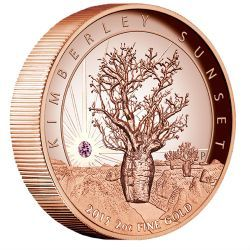 Kimberley Sunset 2015 2oz Pink Gold Proof High Relief Coin