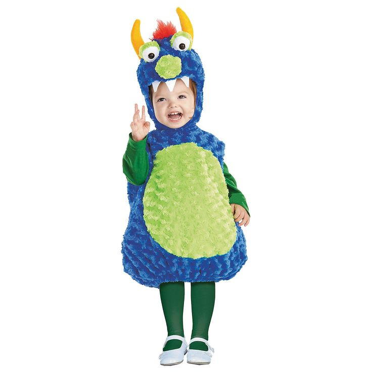 babytoddler blue green monster costume - Baby Monster Halloween Costumes