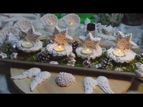 Beton giessen - Schneesterne als Teelichthalter für den Advent - YouTube
