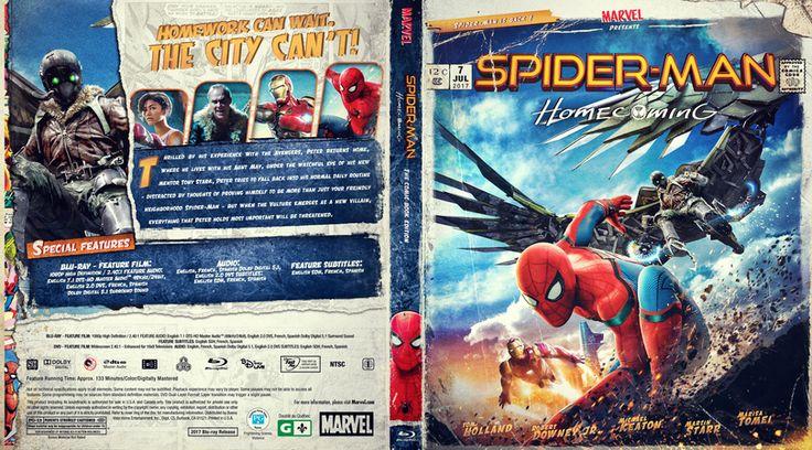 Spider-Man Homecoming Blu-ray Custom Cover