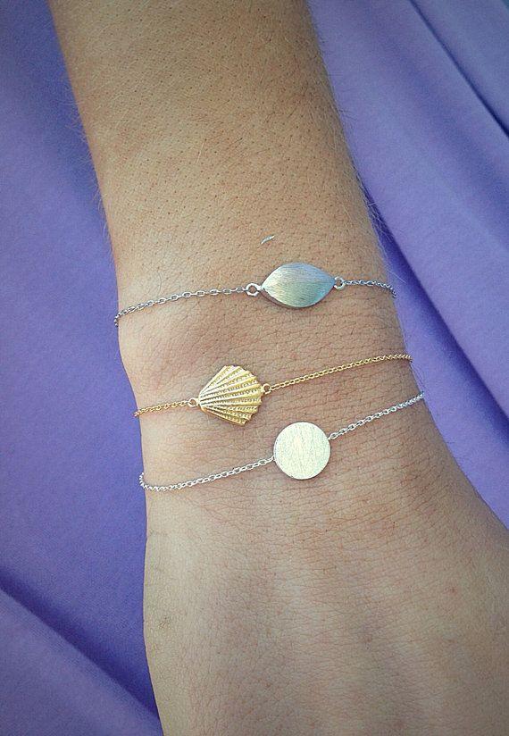 Layering charm bracelets by ThreeBirdNest