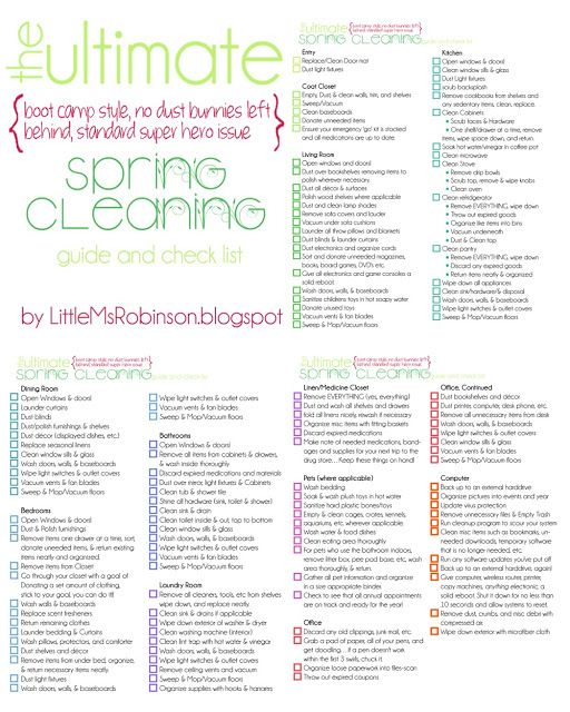 Spring cleaning to do list, so my house beware!!! Spring may be late this year, but it is still going to come sooner or later.......