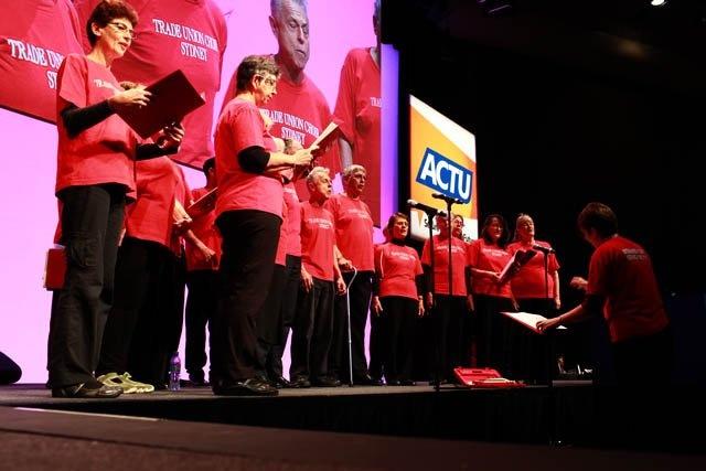 The trade union choir.
