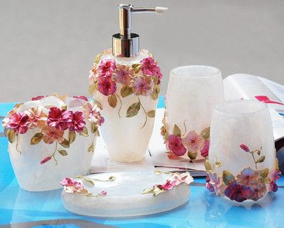 matching bathroom accessories sets. EPMC 3D Flower Design Matching Bathroom Accessory Set Friends Grateful Gift 606 best ideas to use in miniature images on Pinterest