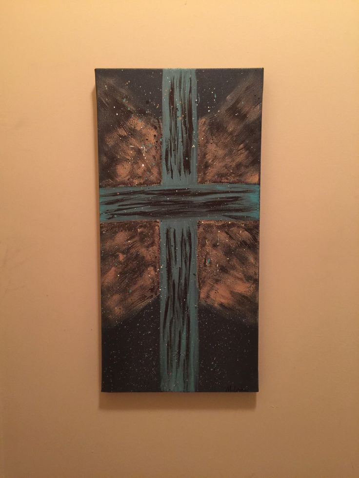 Abstract Cross Canvas Art by MelissaUlrichArt on Etsy https://www.etsy.com/listing/454085868/abstract-cross-canvas-art