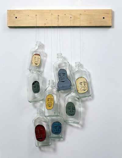 Barry McGee:  (Untitled) 8 Bottles 2003