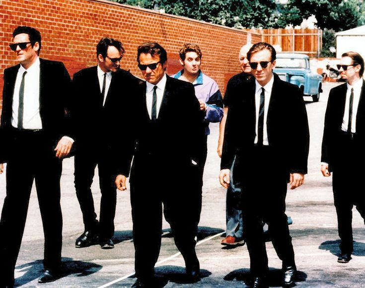 The cast of Reservoir Dogs in vintage Ray Bans