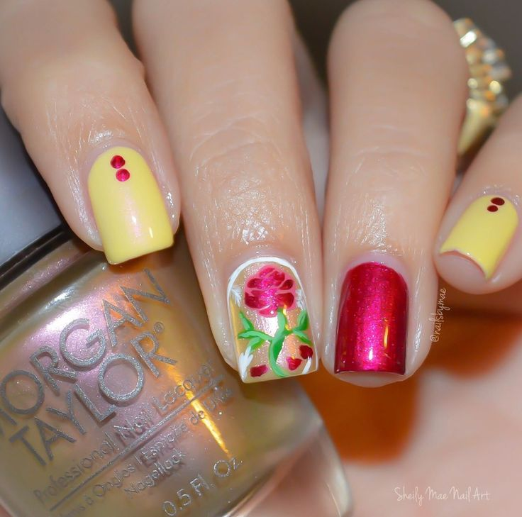 Disney Princess Tiana Waterfall Nail Art: Best 25+ Belle Nails Ideas On Pinterest