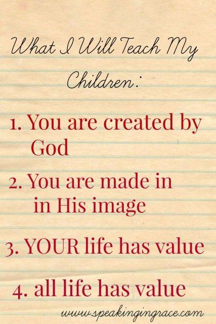 What I will teach my children