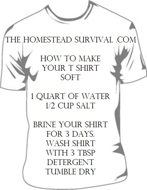 How to make your T-shirt SOFT