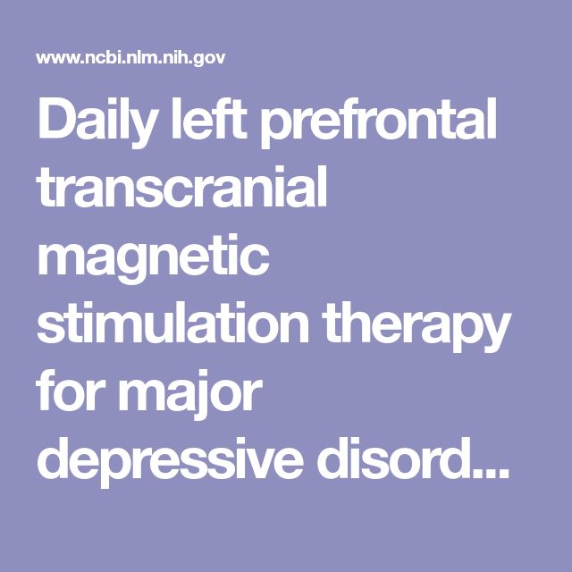 Daily left prefrontal transcranial magnetic stimulation therapy for major depressive disorder: a sham-controlled randomized trial.  - PubMed - NCBI