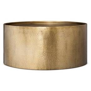 Granby Hammered Barrel Brass Coffee Table - Threshold™ : Target