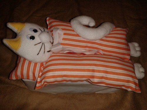 Obal na krabičku na kapesníky- Kočka
