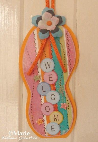 Free Flip Flop Door Hanger Pattern And Tutorial Door