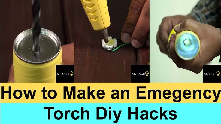 How to Make an Emergency Torch Diy Hacks