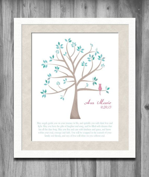 Baby Dedication Personalized Christian Gift Christening