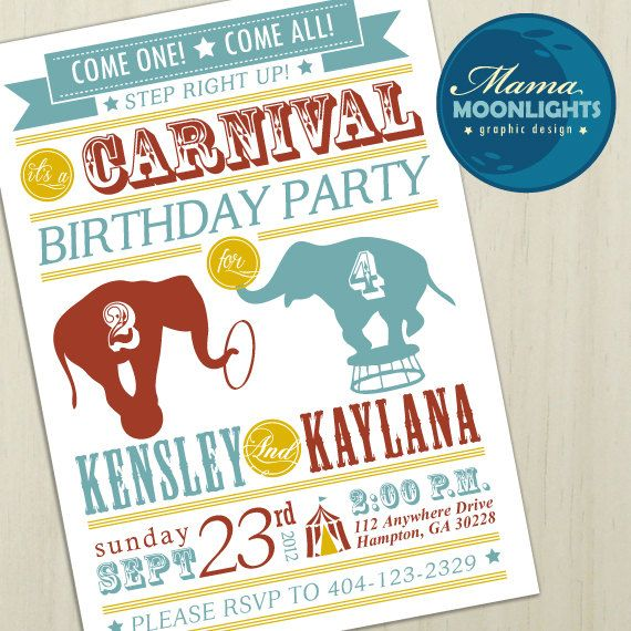 13 Best Baby Shower Invitations Images On Pinterest | Carnival