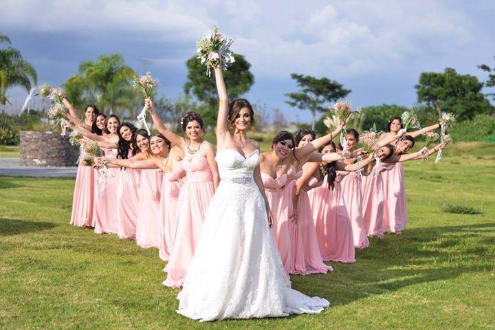 Allure bridals 2917, damas, damas de rosa, novia, dama de honor extra pink