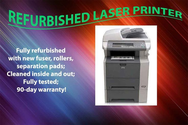 HP LaserJet M3035x CC476A Laser Multi-Function Machine, Printer, Copier, Scanner, Fax. Professionally refurbished laser printer with 90-day warranty! Changed all new rollers, fuser, maintenance kit and all other consumables parts. No toner or drum included, unless indicated otherwise. Existing and new remanufactured toner cartridges are available with extra charge. Shipping included to all customers in lower 48 states. Due to the size and weight, we don't ship to HI, AL, and PR, no PO Box...