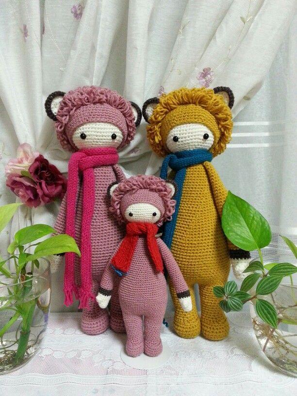 Crochet pattern by lalylala doll ~♡ LONI the lion made by woni.