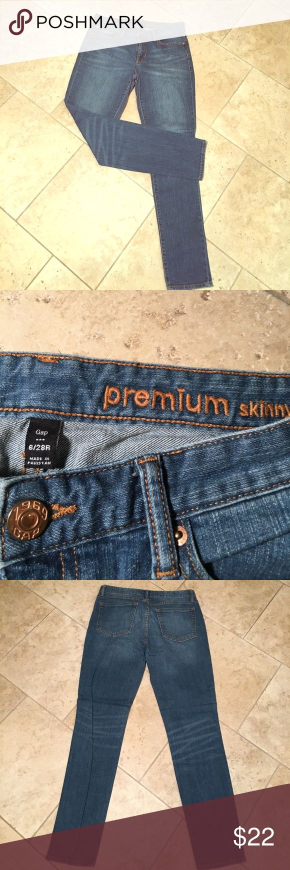 Gap Jeans Premium Skinny Size 6 Gap Jeans. Premium Skinny 5 pocket jean. Like New!!! GAP Jeans Skinny
