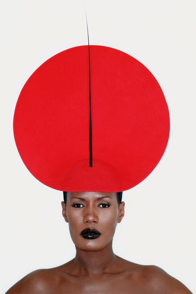 Grace Jones in Phillip Treacy