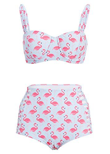 Turquoise Pink Flamingo High Waist Bikini Set Retro Swims... http://www.amazon.com/dp/B00TYP2R12/ref=cm_sw_r_pi_dp_aG5gxb19ECJ60