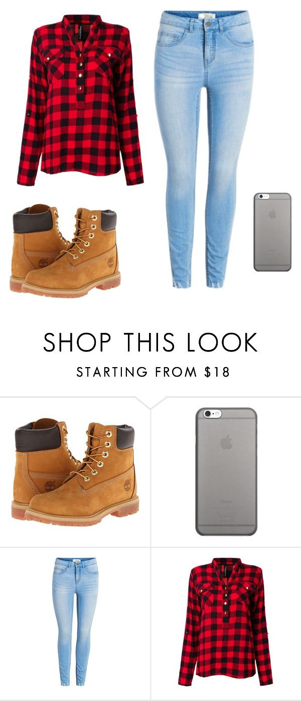 """Casual"" by diovion-doakes on Polyvore featuring Timberland and Native Union"