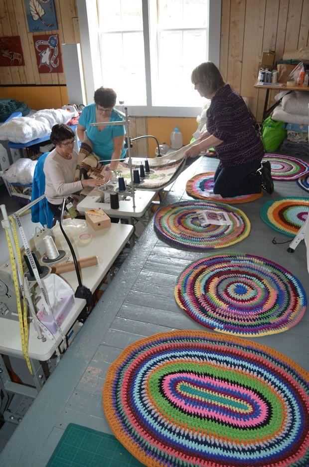 Crafting rag rugs - Fogo Island Inn