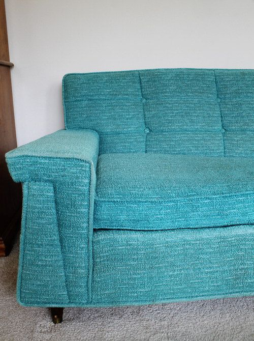 mid century modern couch authentic 1950 39 s sofa via etsy check out the arm details. Black Bedroom Furniture Sets. Home Design Ideas