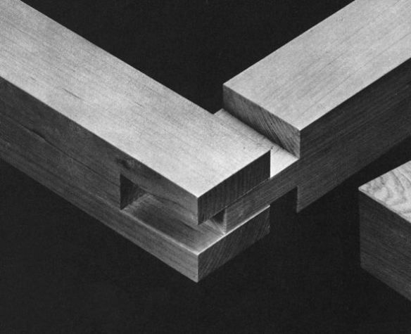 "traditional japanese joinery image from ""The Art of Japanese Joinery"" by Kiyosi Seike"