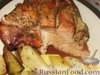 Фото к рецепту: Запеченное бедро индейки