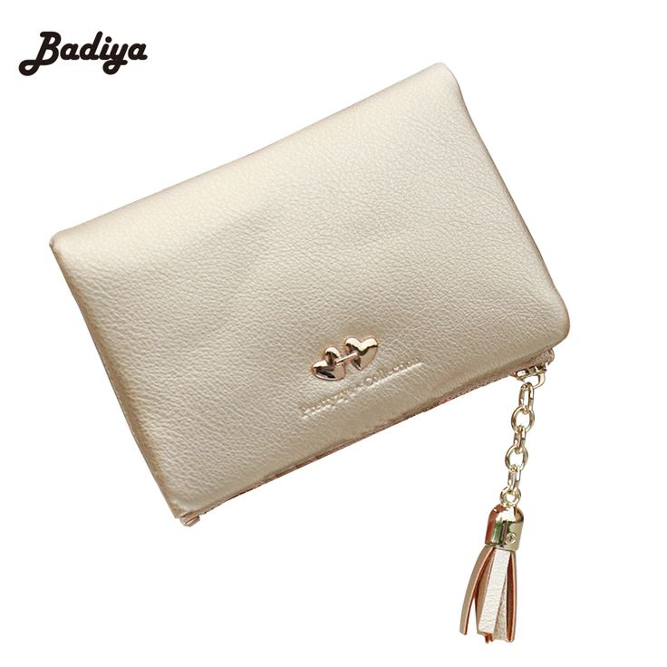 2016 New Fashion Women Wallets Tassel Soft Leather Zipper Wallet Ladies Korean Design Purse More Color Ladies Day Clutch