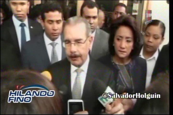 Danilo Medina Explica El Porque Su Aterrizaje De Emergencia En Una Visita Sorpresa #Video