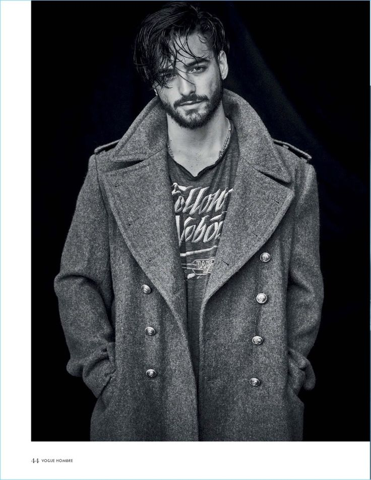 Appearing in a Vogue Hombre photo shoot, Maluma rocks a Kent & Curwen coat with a vintage shirt.
