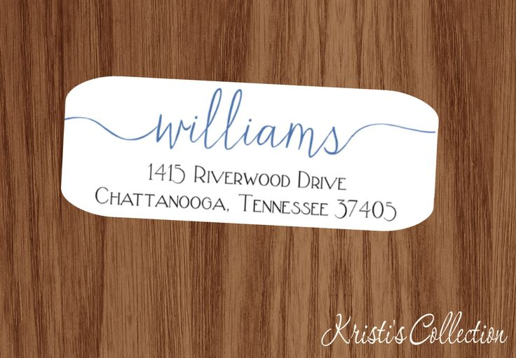 Family Return Address Labels Stickers - Custom Personalized Family Return Address Shipping Label - Calligraphy Labels by KristisCollection on Etsy https://www.etsy.com/listing/386367816/family-return-address-labels-stickers