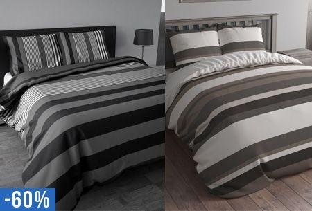 Flanellen dekbedovertrek Stripe nu al vanaf €19,95 | Heerlijk warm in de winter!