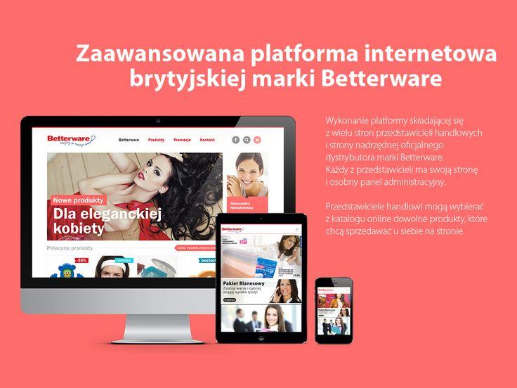 Zaawansowana platforma internetowa brytyjskiej marki #Betterware. #migomedia #stronawww #strona_www #stronainternetowa #strona_internetowa